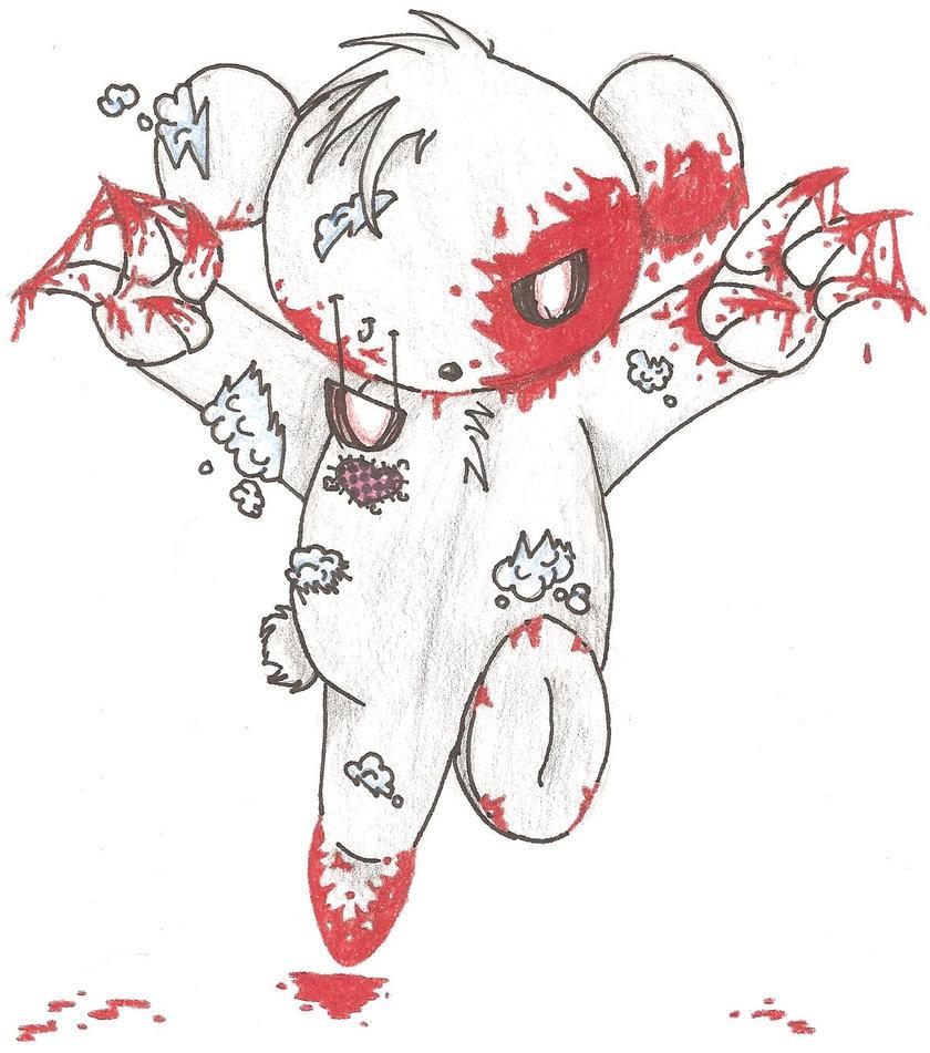 Killer Teddy Bear by Madoriko100 on DeviantArt