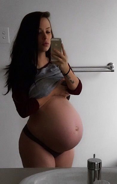 Sexy pregnant belly
