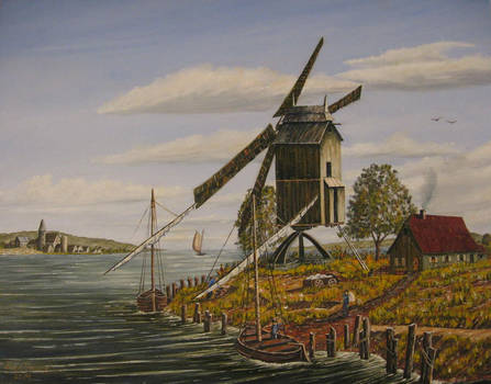 Dutch Windmill, 16th Century