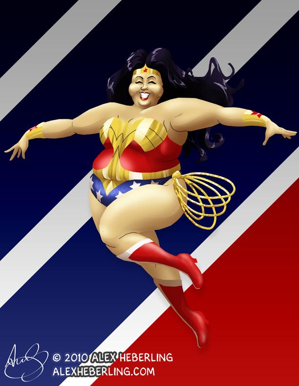 Fat Wonder Woman by alex-heberling