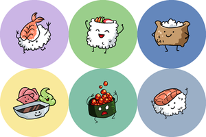 Sushi Buttons