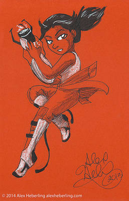 Chell Sketch Card