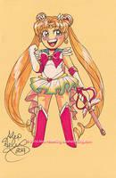 Super Sailor Moon Sketch Card by alex-heberling