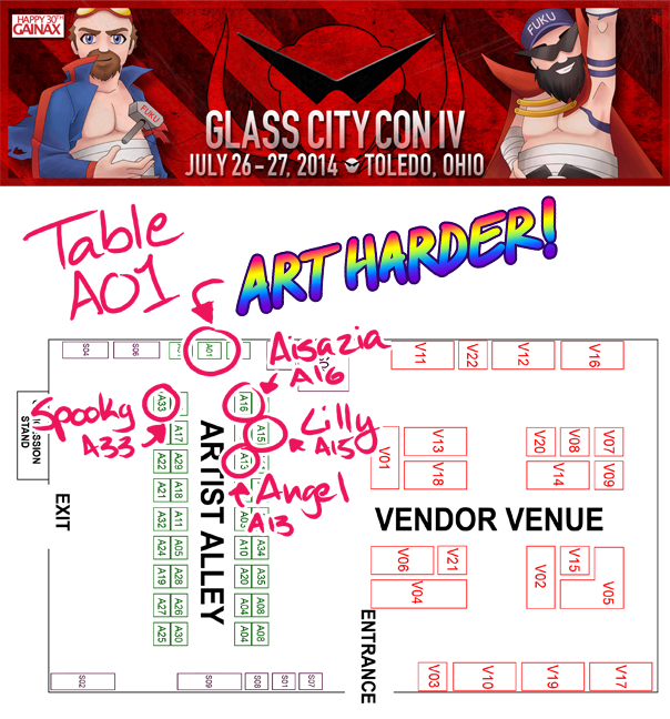 Glass City Con 2014 Map by alex-heberling