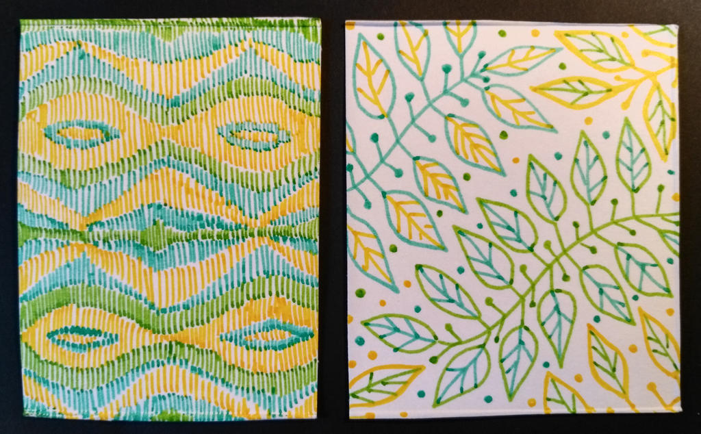 Pattern (leaves and textile) by Rivulin