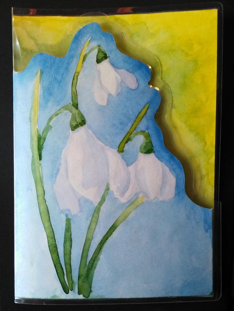 Snowdrop( postcard ) by Rivulin