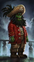 Zombie Pirate LeChuck by Vihola