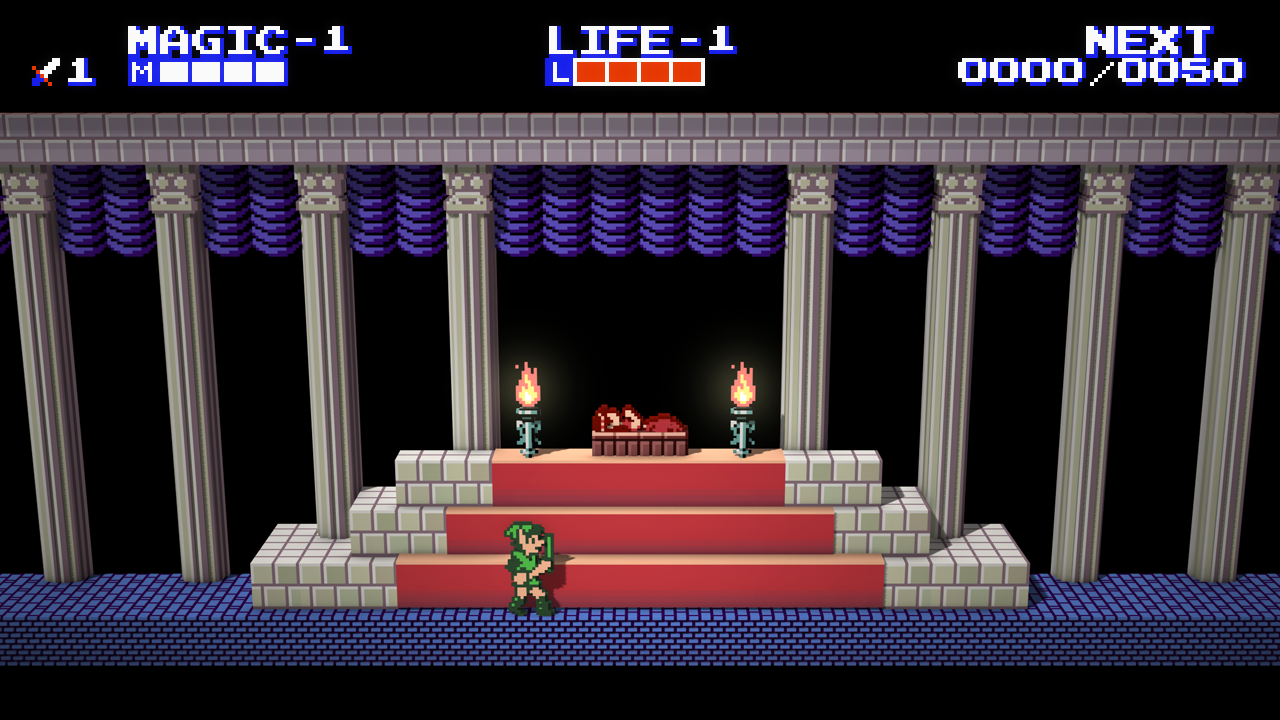 Zelda II: Adventure of Link Voxel by Vihola