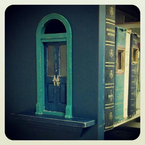 library fairy door by poeticwriter007