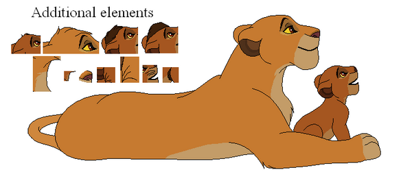 Cub and lioness base by Machafuko120