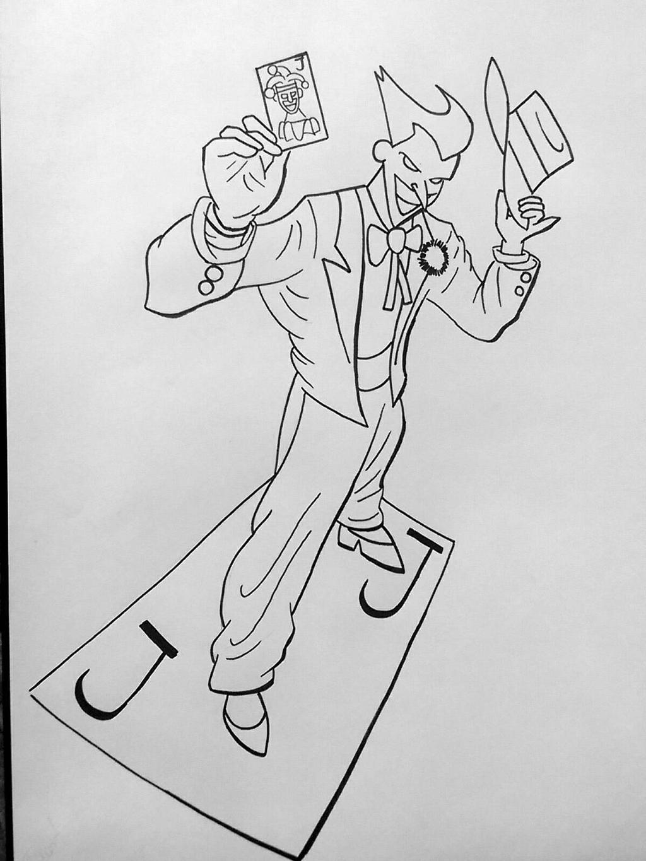 The Joker Line Art : The joker line work by irongibb n on deviantart