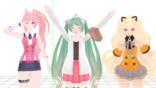 [MMD / 3D] Kawaii photo with friends by Ariariel