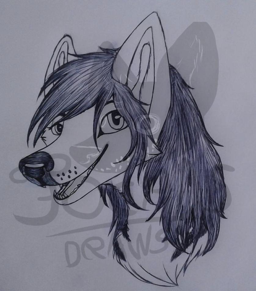 Female Wolf furry 1/2 by Focads