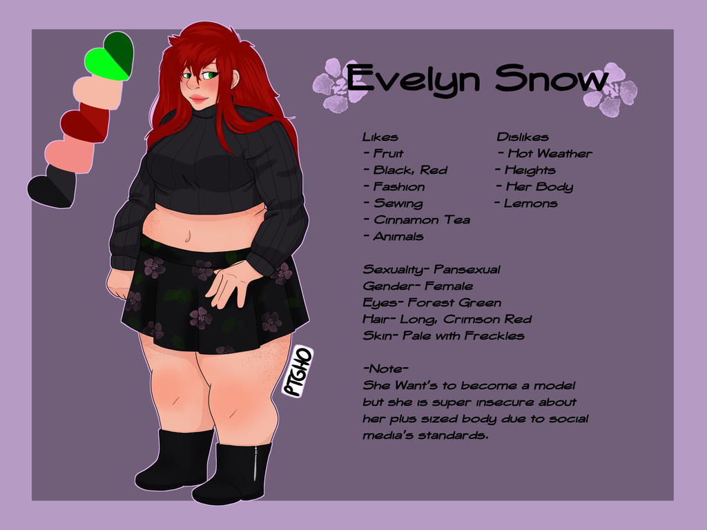 Evelyn Snow - Reference Sheet by Rythianfan1120