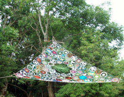 Trashy Treasure In The Trees Installation