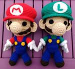 Mario and Luigi Amigurumi by jessiejnr