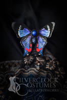 BLUE BUTTERFLY hair barrette - FOR SALE by SilverclockCostumes