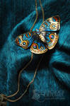 TURQUOISE BUTTERFLY hair barrette brooch FOR SALE