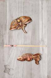 Moth vs Fish by SilverclockCostumes