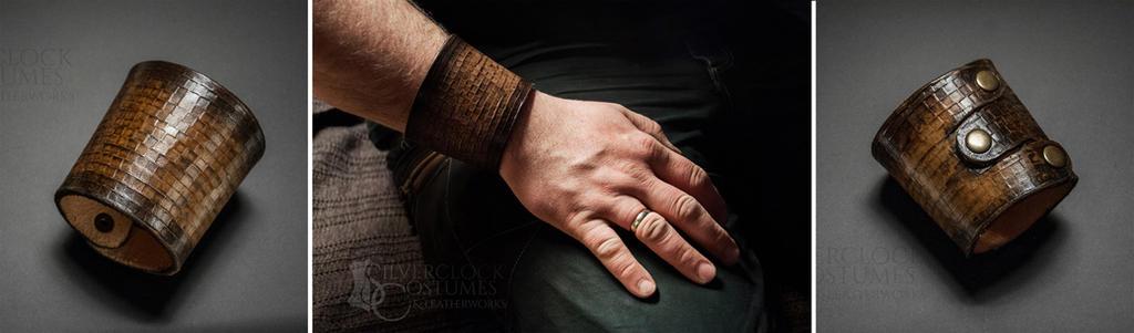 PRIMITIVE BRACELET FOR MEN - manly man jewelry by SilverclockCostumes
