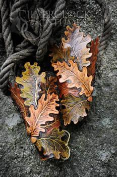 OAK LEAVES VAMBRACES - leatherwork for sale