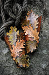 OAK LEAVES VAMBRACES - leatherwork for sale