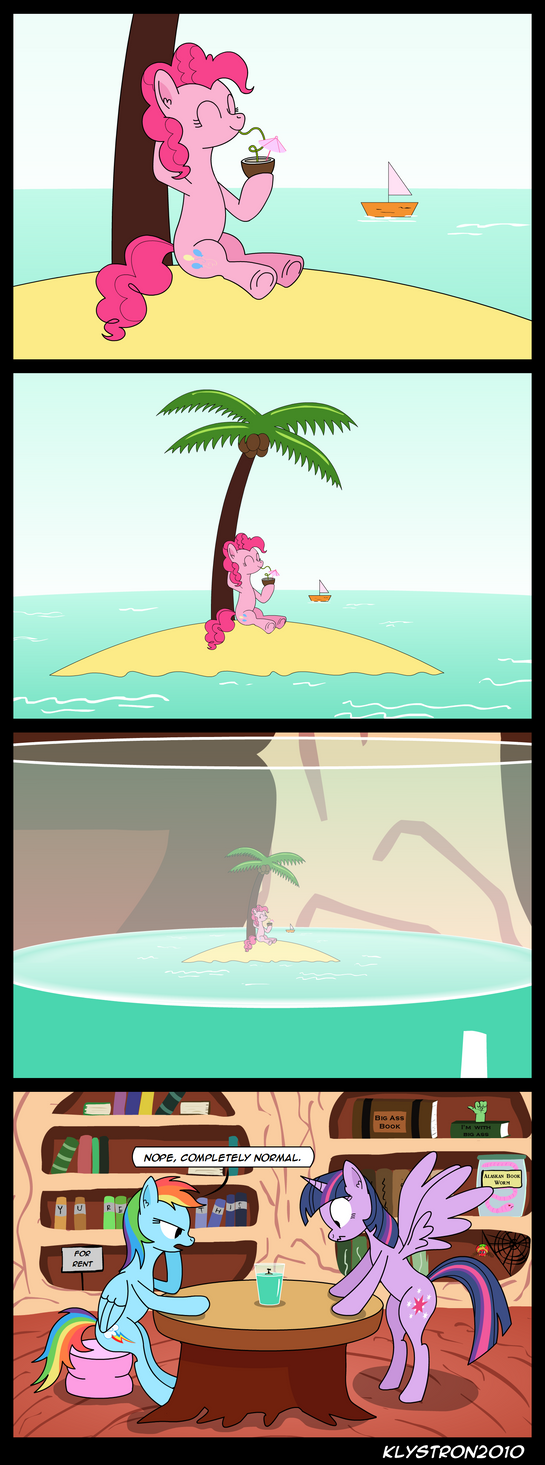 Pinkie on Vacation by klystron2010