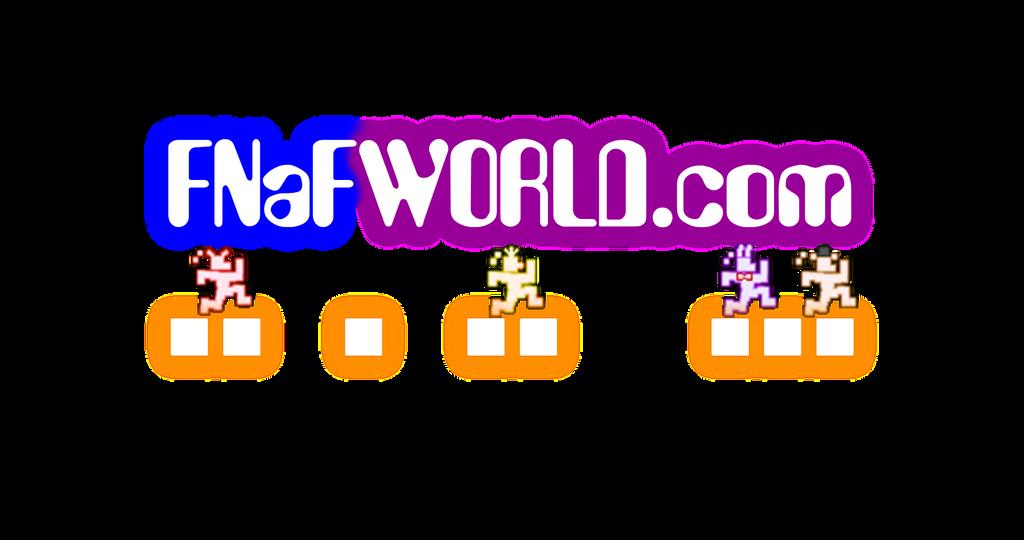 fnafworldcom logo fan made by mechaashura20 on deviantart