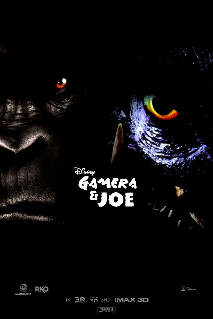 Gamera and Joe fan poster by MechaAshura20