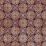 Floral Purple-Gold Paper 2