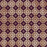 Floral Purple-Gold Paper 3