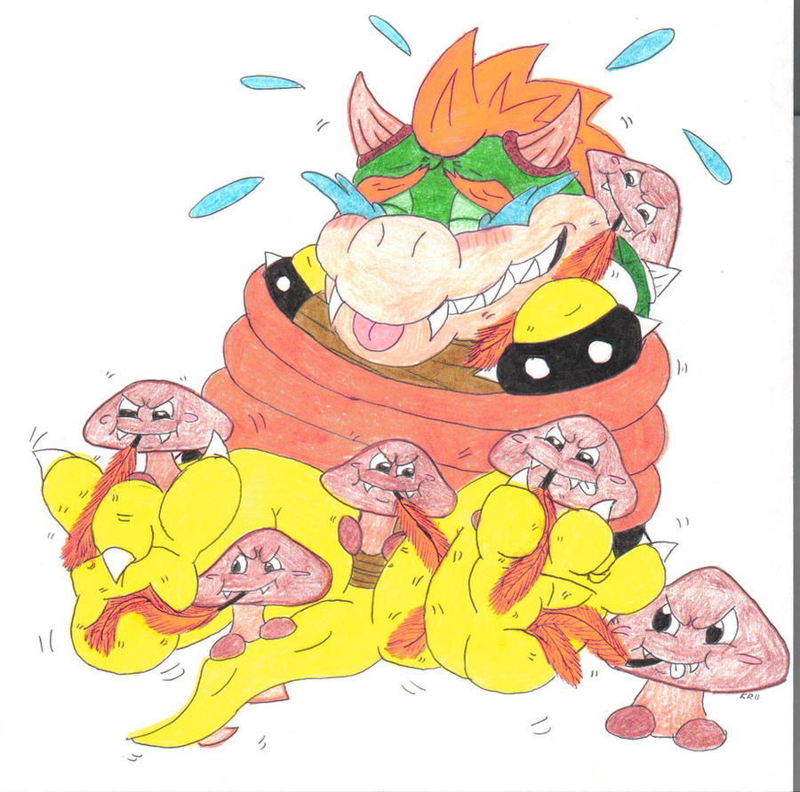 Bowser Tickle Torture Goomba Feather Ambush By
