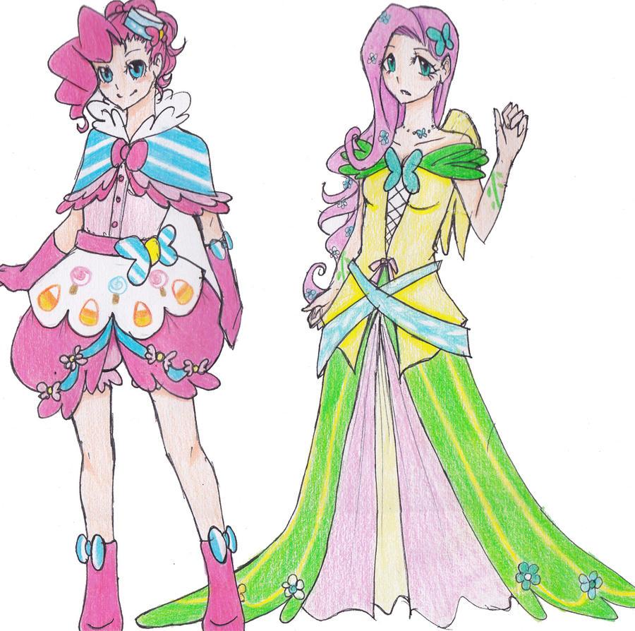 Pinkie Pie and Fluttershy's Gala dress by pimlak1234