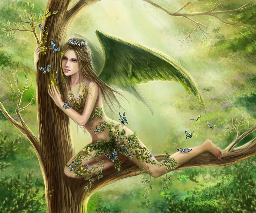 The wood fairy by AksaArt