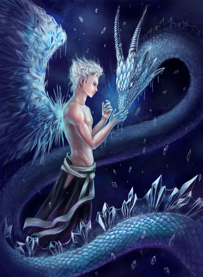 Ice dragon hitsugaya toushiro by aksaart on deviantart - Anime boy dragon ...