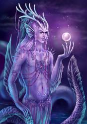 dragon man by AksaArt