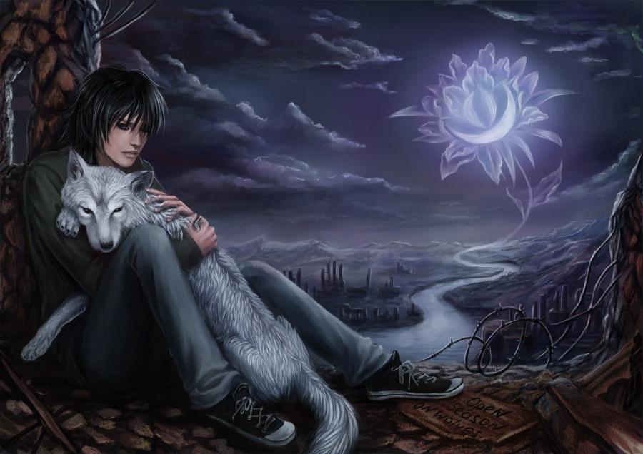 Wolf's Rain. Kiba by AksaArt