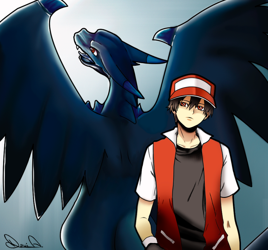 Trainer Red And Charizard X By Tkayba On Deviantart