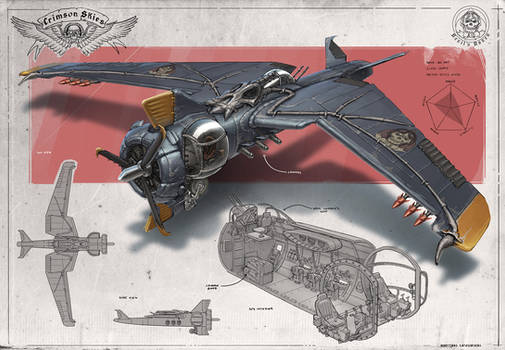 Redesign: Crimson Skies (Big Bat heavy fighter)
