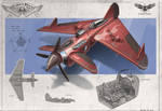 Redesign: Crimson Skies (Dragster medium fighter)