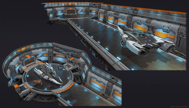 Space station dock concept