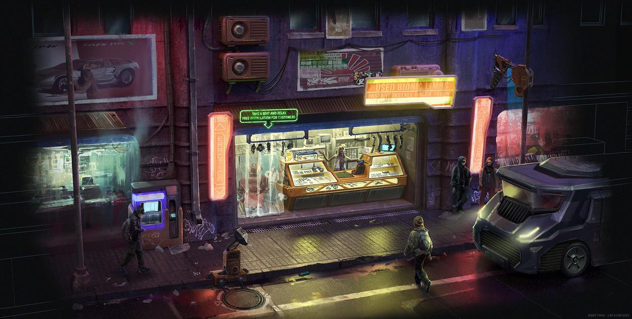 Cyberpunk street by martydesign