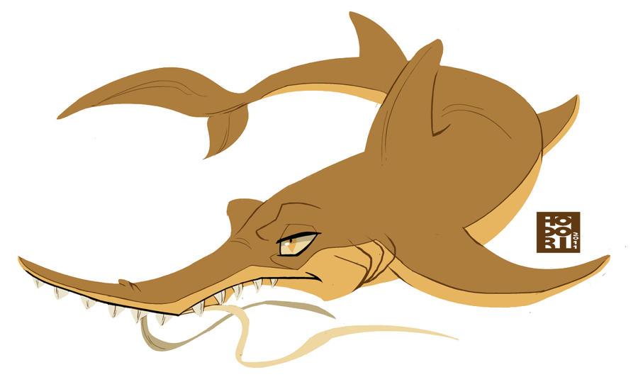 longnose sawshark by hodori on deviantart