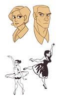 people doodles by Hodori