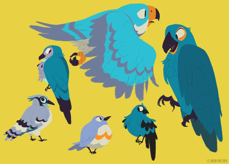 Blue Birds by Hodori