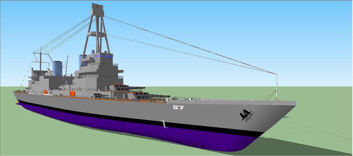 Adagio Class Heavy Cruiser by Ciroton