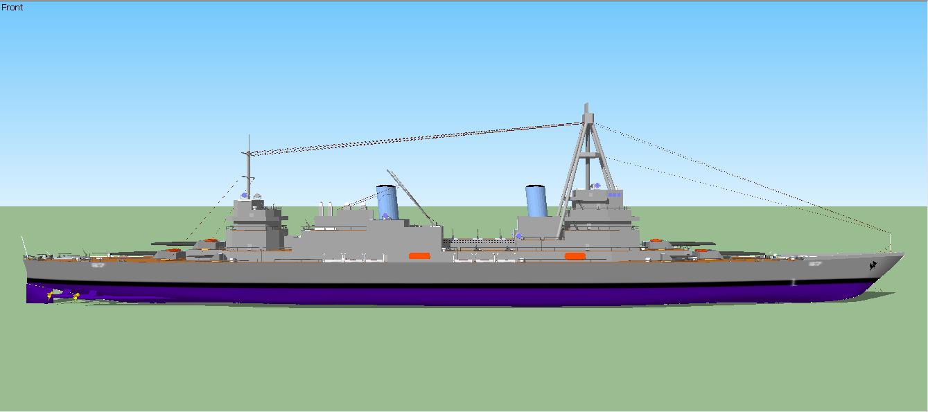 Adagio Class Heavy Cruiser (Starboard Profile) by Ciroton