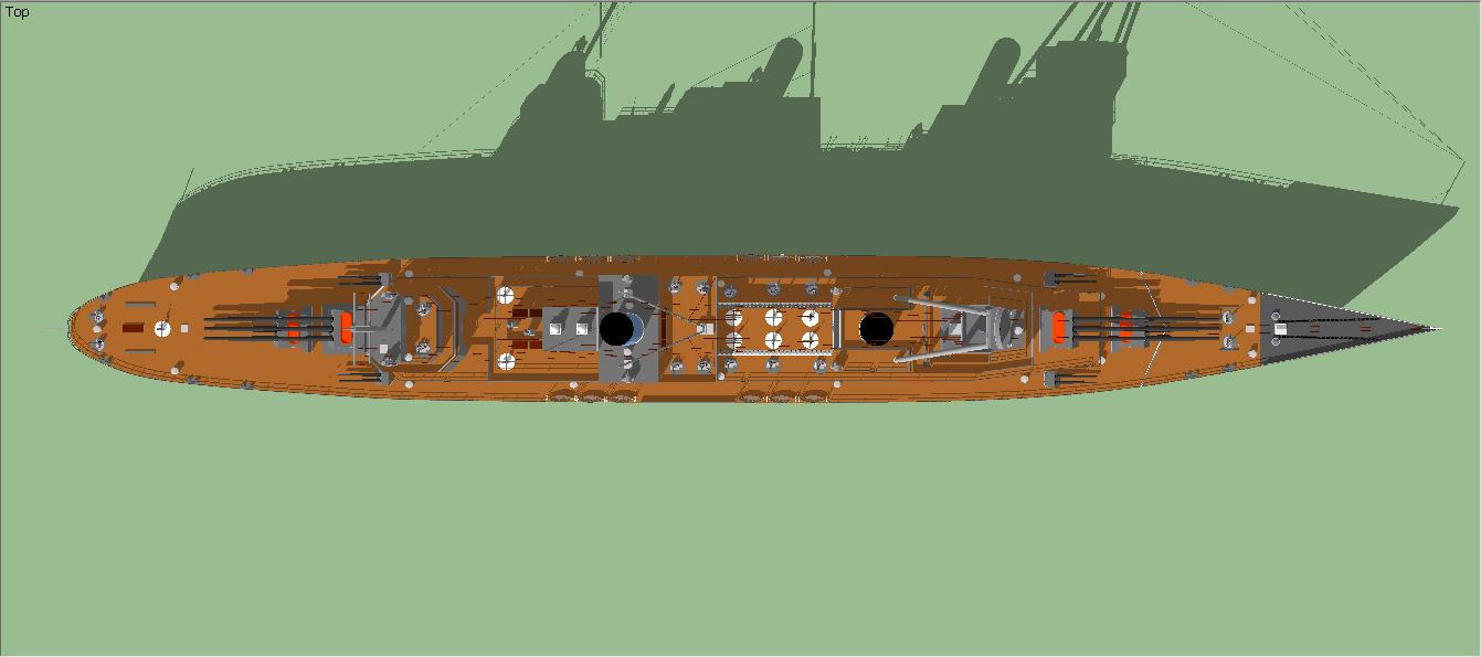 Adagio Class Heavy Cruiser (Top Profile) by Ciroton