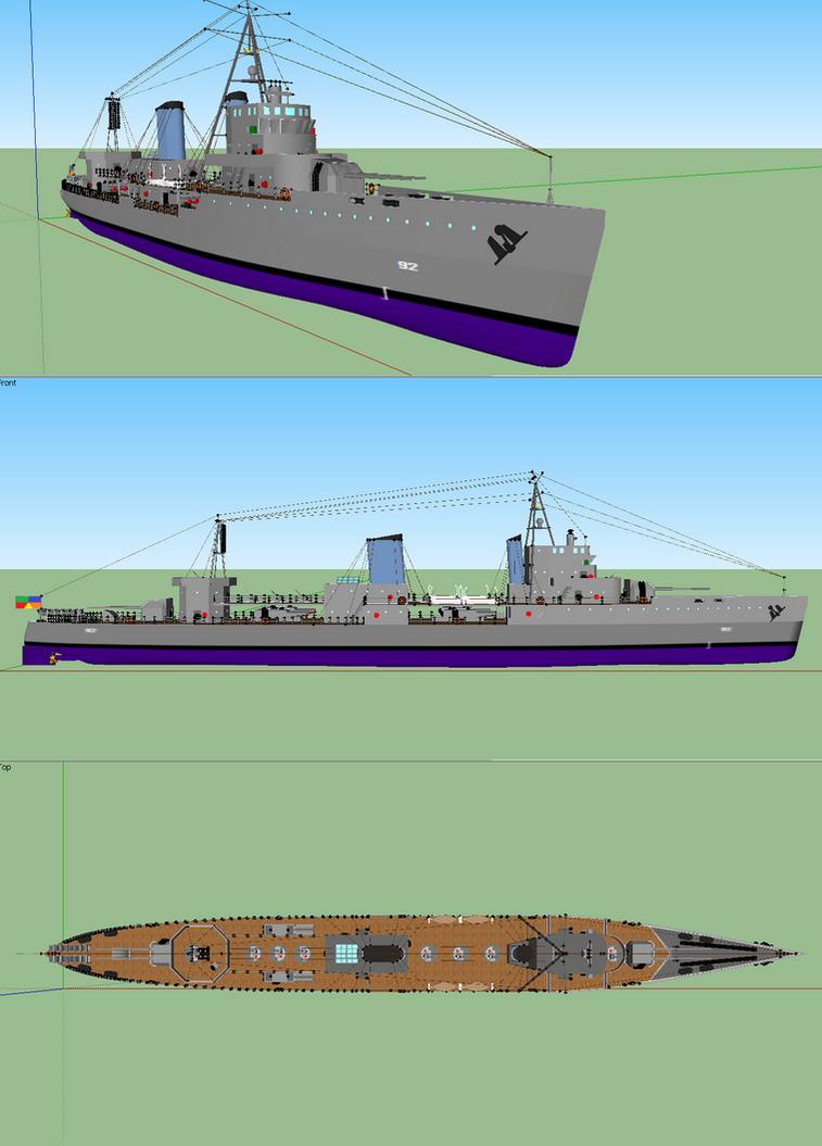 Jonihiva Class Destroyer by Ciroton