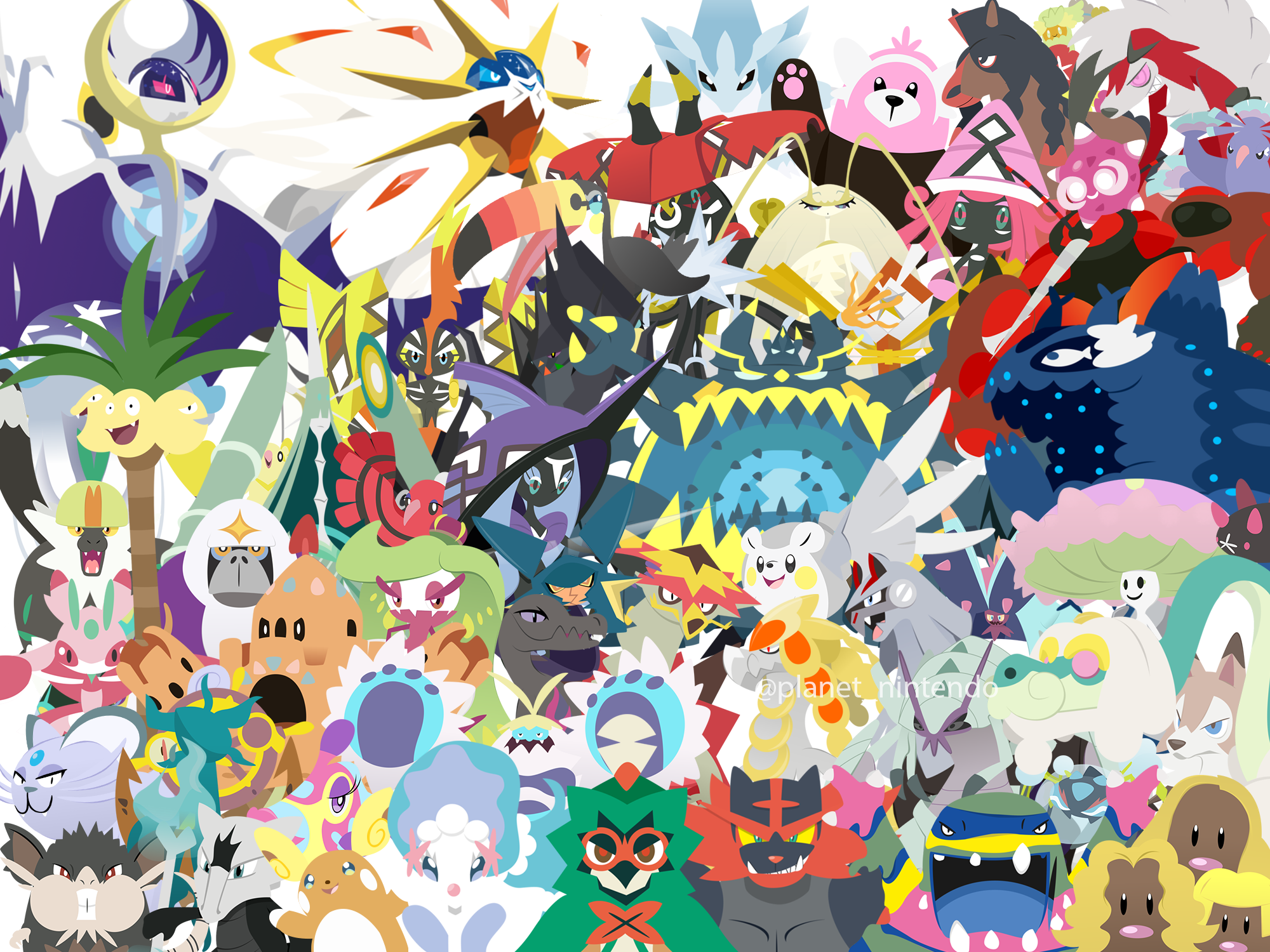 Pokemon Sun And Moon Wallpaper By Planetnintendo On Deviantart